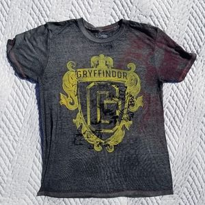 Harry Potter Grey Retro Thin T-Shirt Small Tie Dye